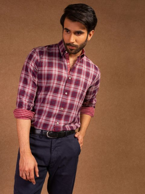 Casual Red Check Shirt