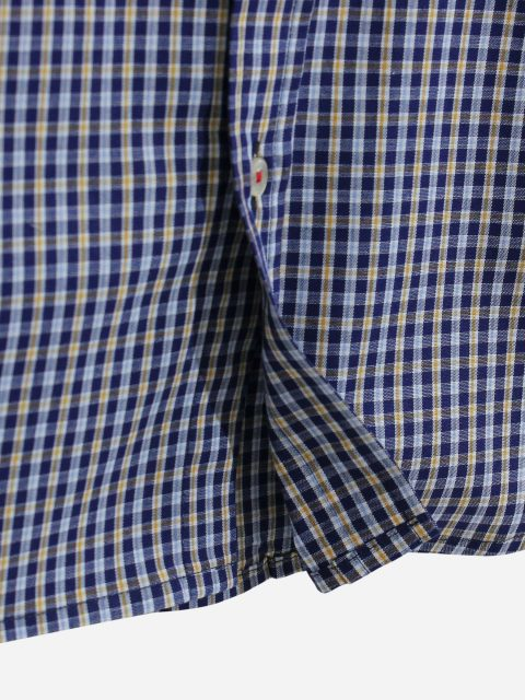 Blue Gingham Half Sleeve Casual Shirt