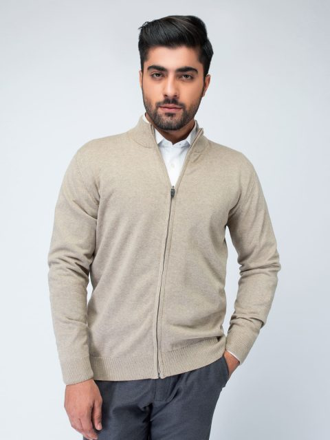 Beige Full Sleeve Zipper Brumano Pakistan