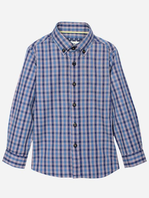 Blue & Pink Casual Check Shirt