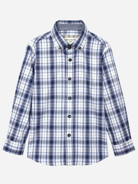 Blue & Purple Long Sleeve Casual Shirt