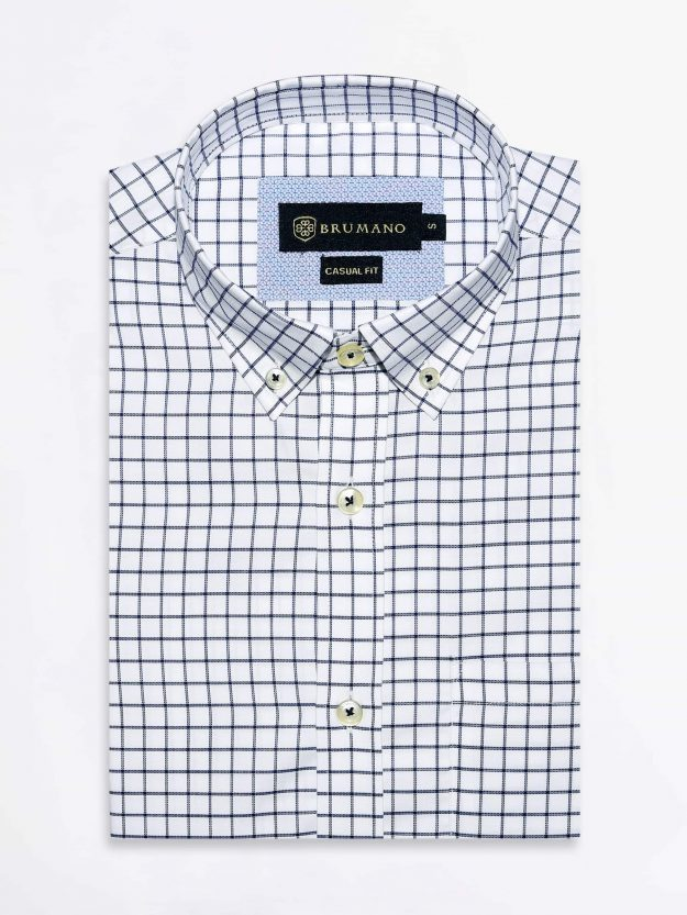 Basic Windowpane Check Shirt Brumano Pakistan