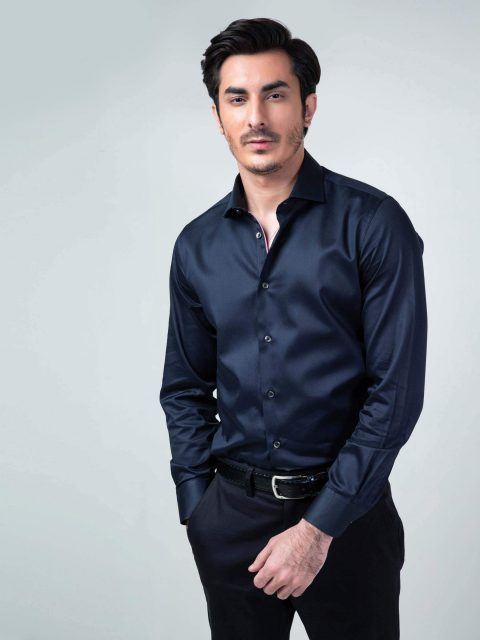 navy-blue-satin-shirt-Brumano-Pakistan-1