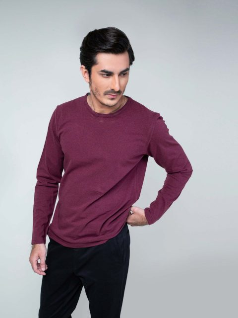 Maroon Long Sleeve T-Shirt Brumano Pakistan