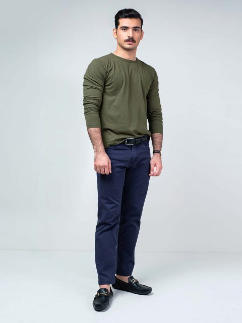Olive Green Long Sleeve T-Shirt