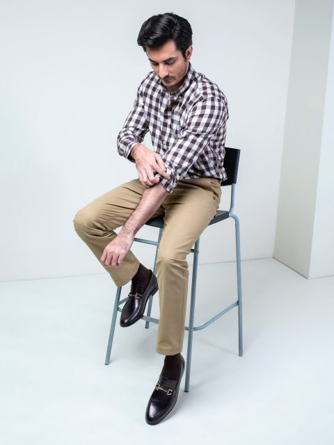 Brown Flannel Checkered Shirt Brumano Pakistan