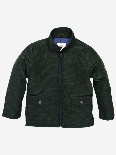 Horizontal Olive Quilted Jacket Brumano Pakistan