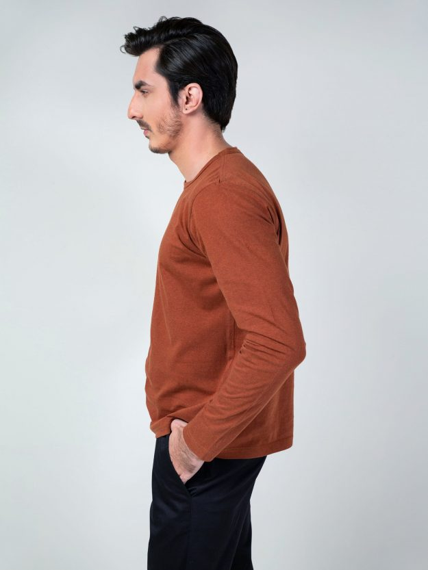 Rusty Orange Long Sleeve T-Shirt Brumano Pakistan