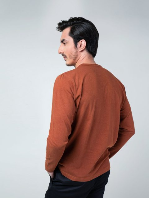 Rusty Orange Long Sleeve T-Shirt