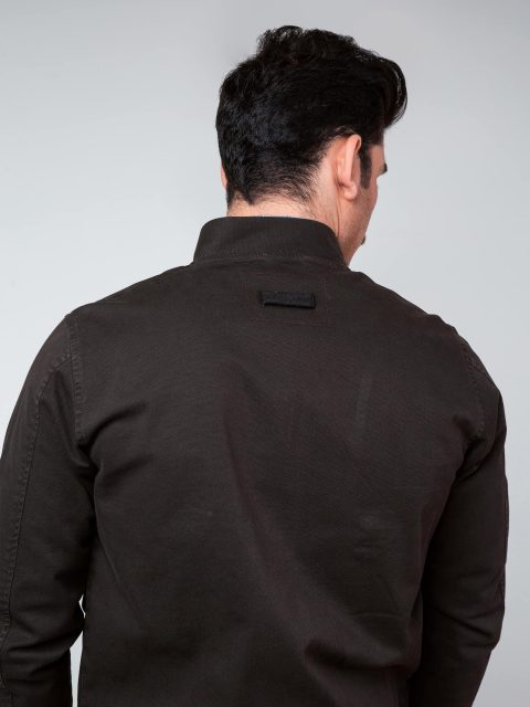 Dark Brown Baseball Jacket