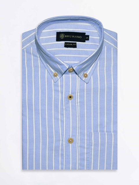 Blue Striped Oxford Shirt Brumano Pakistan