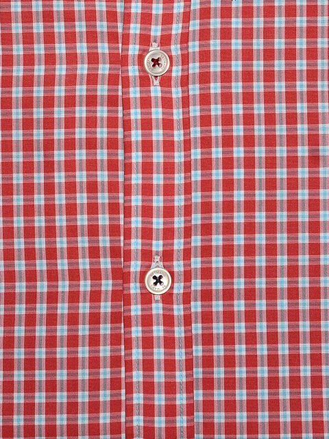 Red Gingham Poplin Shirt