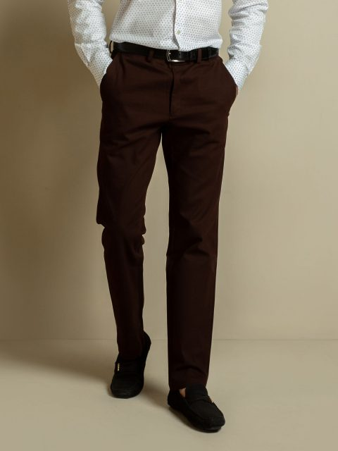 Dark Brown Structured Trouser Brumano Pakistan