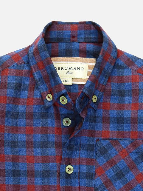 Red & Blue Casual Checkered Shirt