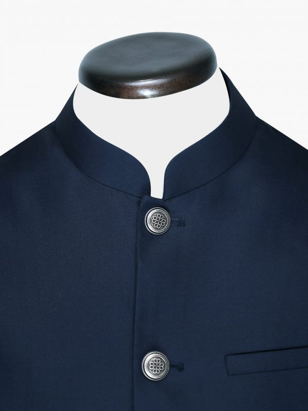 Blue Waistcoat With Silver Buttons Brumano Pakistan