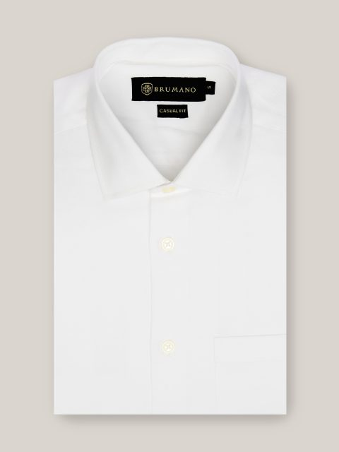 White Twill Formal Shirt