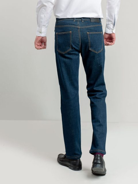 Blue Slim Fit Jeans With Detailing