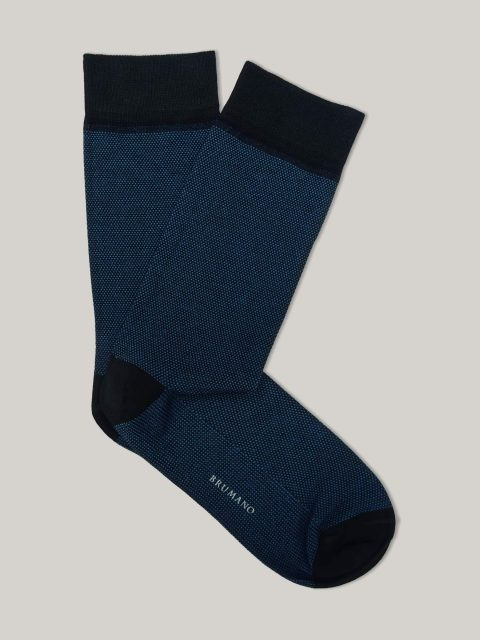 Black & Blue Dobby Mercerized Socks Brumano Pakistan