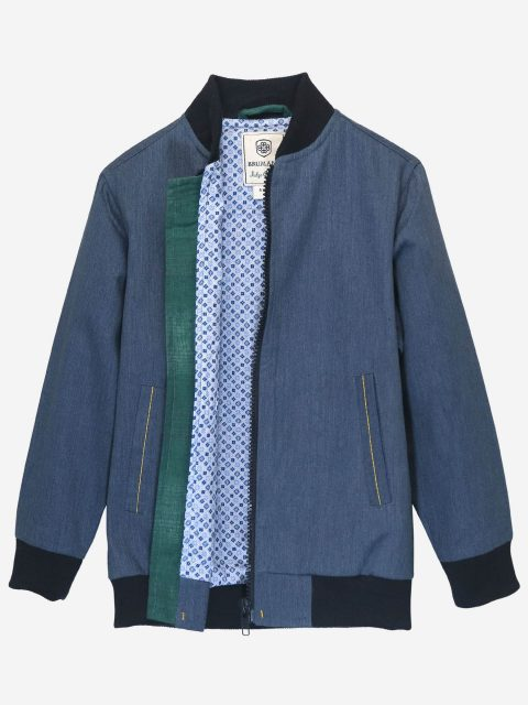 Blue Light Weight Casual Bomber Jacket
