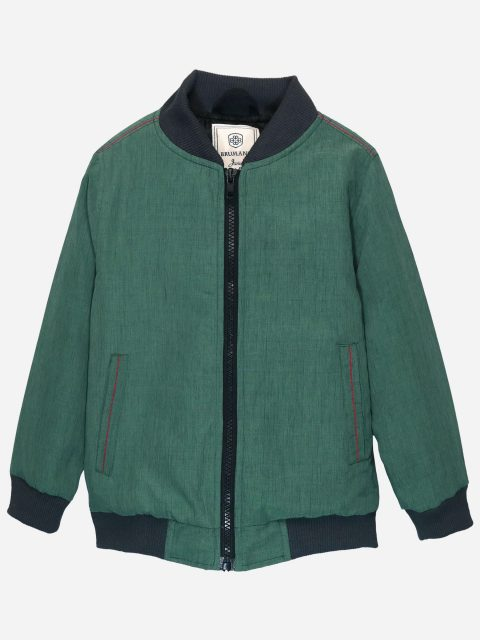 Sea Green Quilted Casual Bomber Jacket Brumano Pakistan