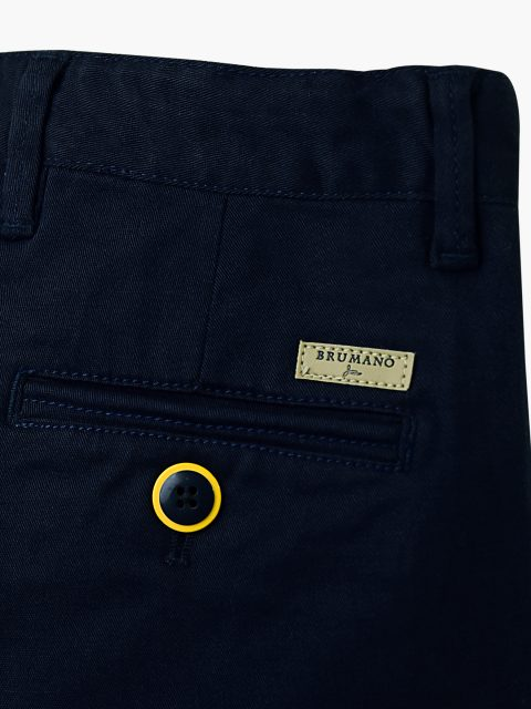 Navy Twill Casual Trouser
